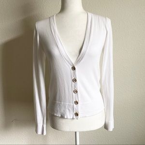 Lilly Pulitzer White Button Down Cardigan M